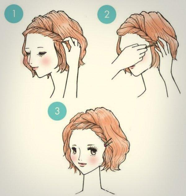 Прически на короткие волосы самой себе на каждый день