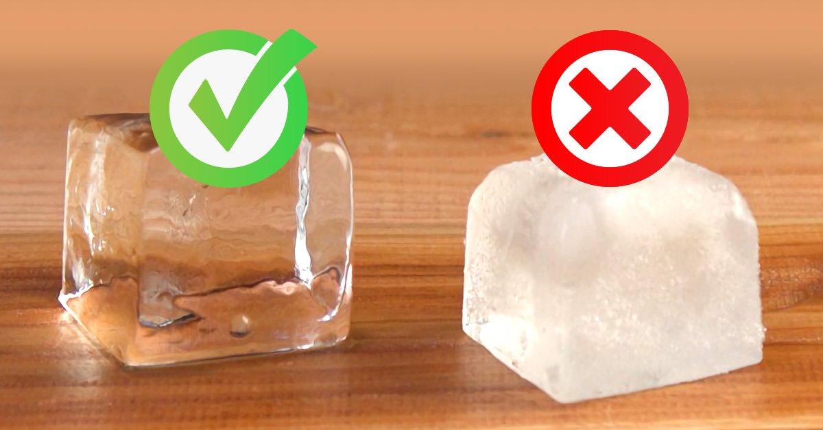 Как получить прозрачные кубики льда