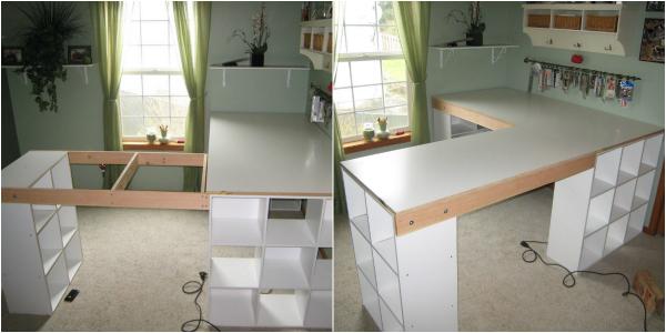 стол из книжных полок