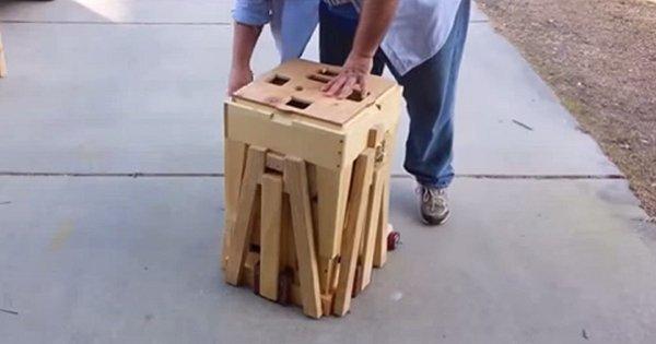 Он просто потянул этот странный ящик. Что произошло потом? Мне срочно нужен такой же!