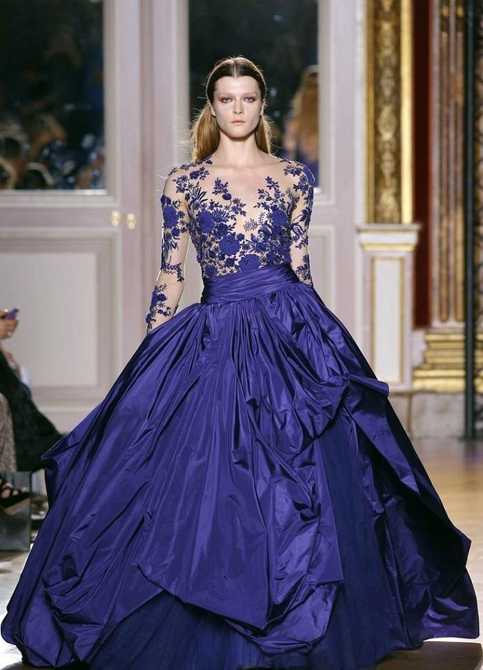 вечерние платья с вышивкой бисером