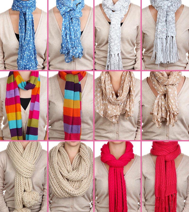 как подобрать шарф к черному пальто