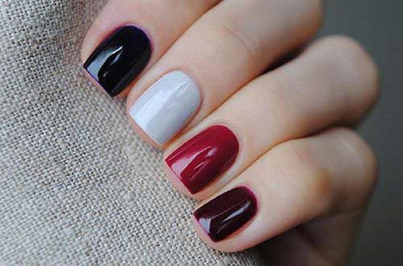 Два цвета на одном ногте как называется