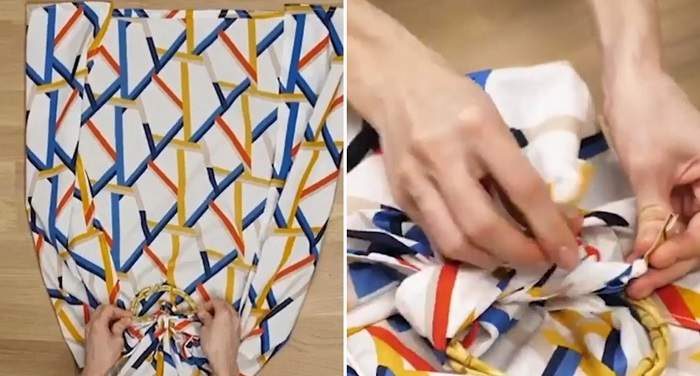 как завязать платок и шарф