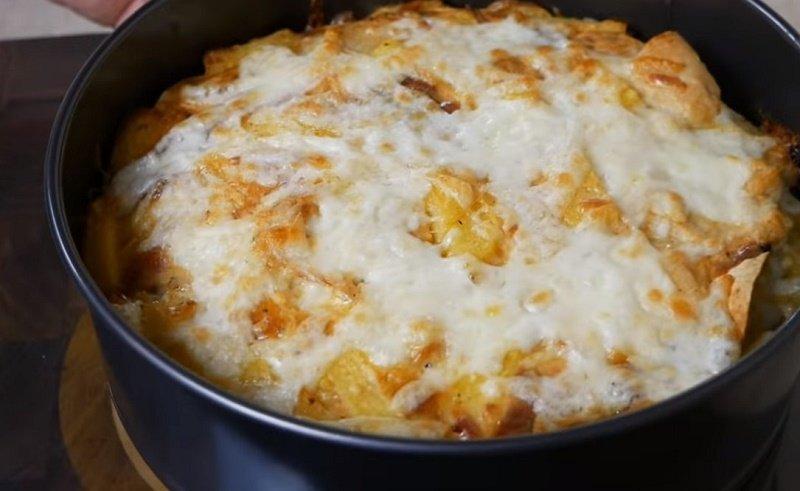 картофельная запеканка с курицей и грибами рецепт