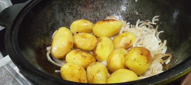 казан картошка