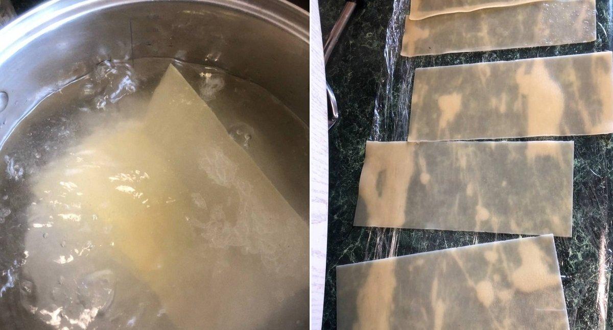 формирование лазаньи