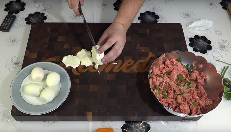 мясной пирог на кефире