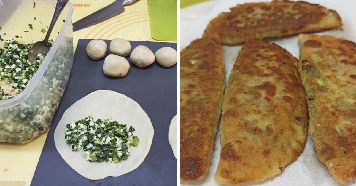 Накануне Шаббата приготовил пирожки с зеленым луком, чтобы угостить каждого, кто забежит в гости