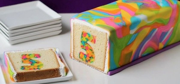 разноцветный пирог