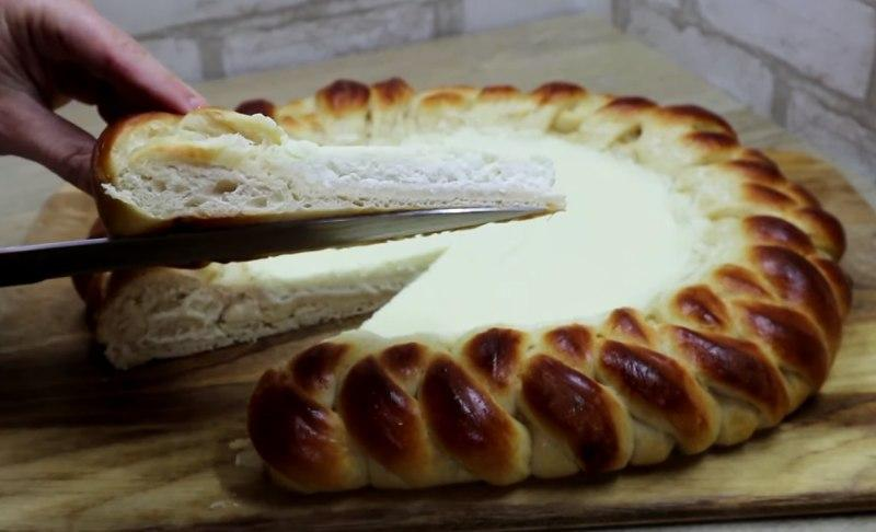 сдобный пирог на молоке