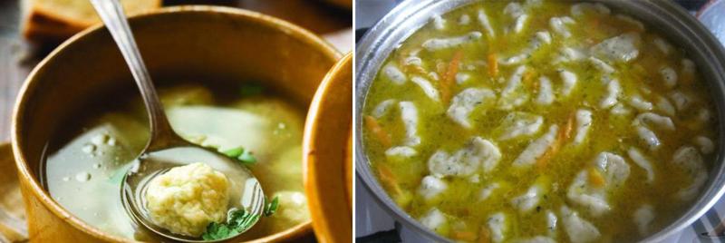 простой рецепт супа с галушками