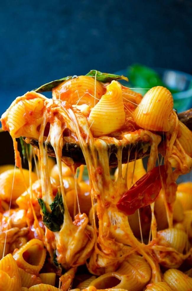 макароны с моцареллой