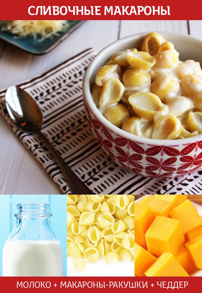 сливочные макароны