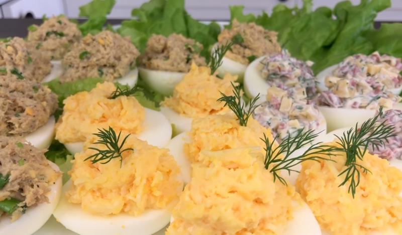 рецепты вкусных фаршированных яиц