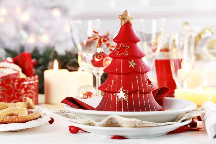 красивый новогодний стол