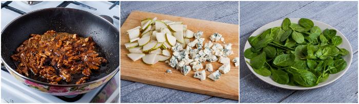 пикантный салат с орехами