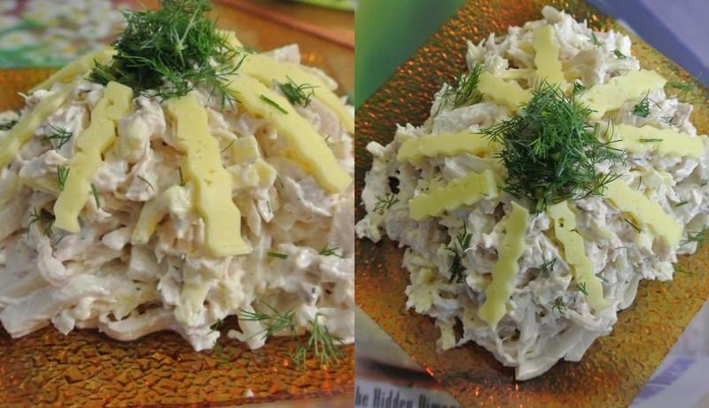 рецепты быстрых салатов с майонезом