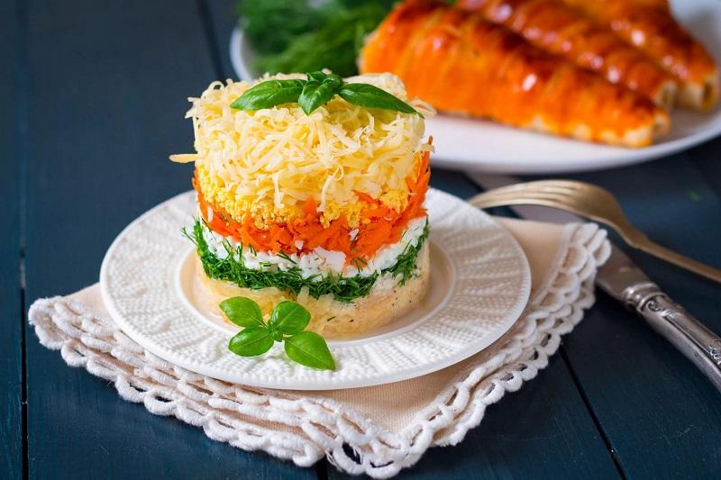 рецепты праздничных салатов быстрого приготовления