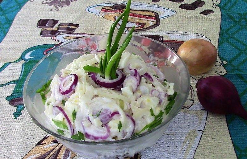 рецепт салата огурцов с луком на зиму