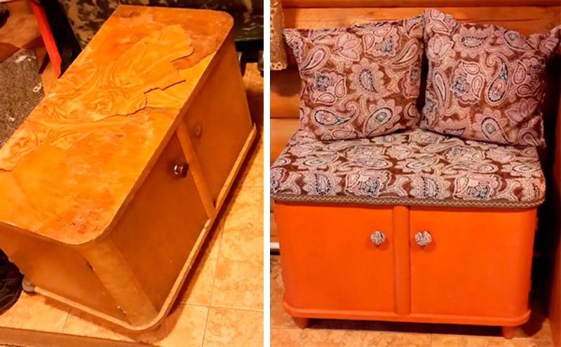 Идеи переделки старой мебели своими руками фото