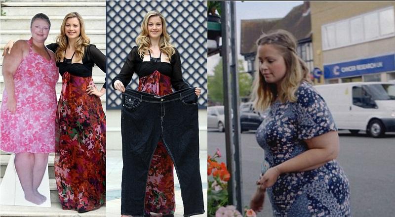 тежестта назад, след диета