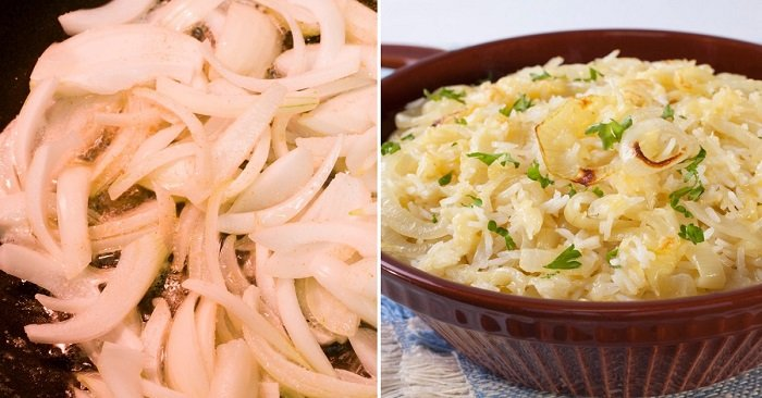 как приготовить рис с луком