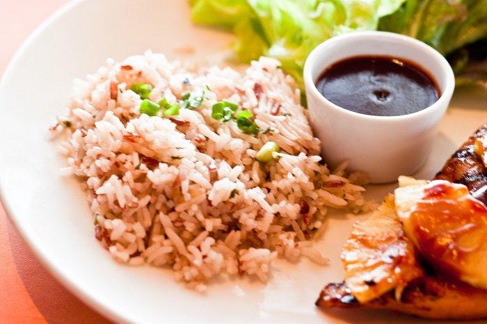 рис с перцем в духовке