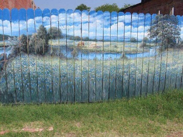 красивые рисунки на заборе