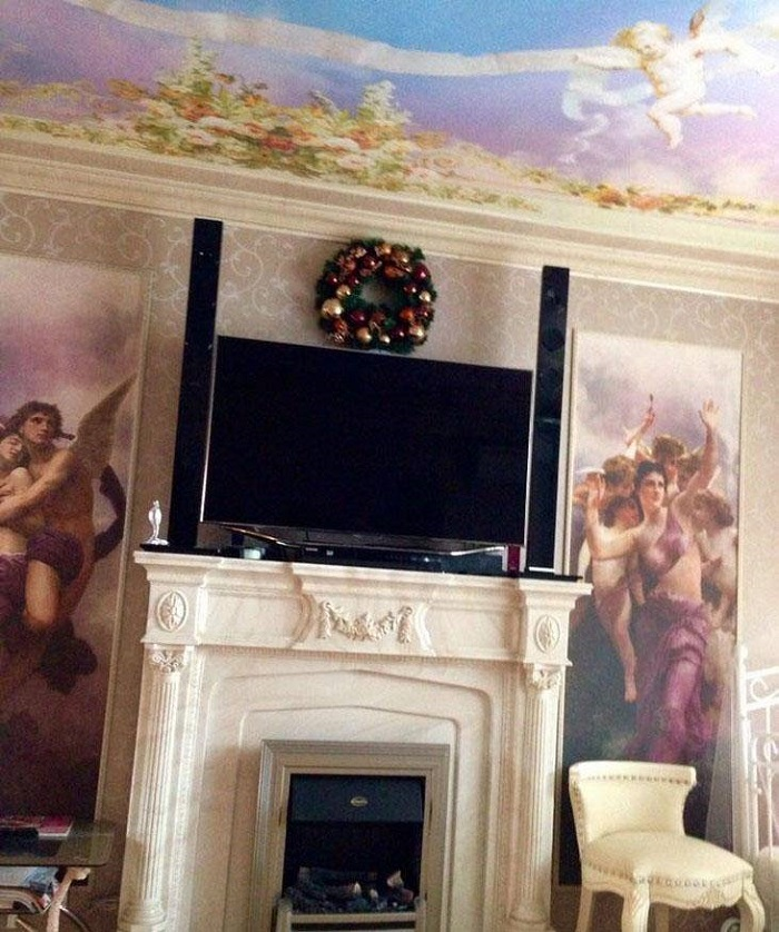 роскошный интерьер зала