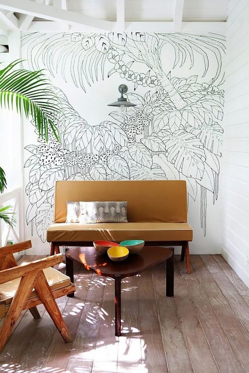 nástenné maľby v interiéri kuchyne