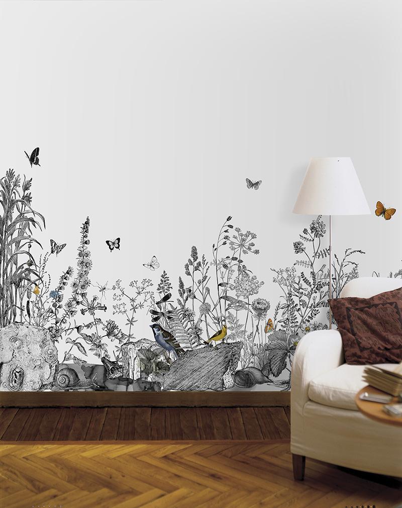 nástenné maľby v interiérovej technológii