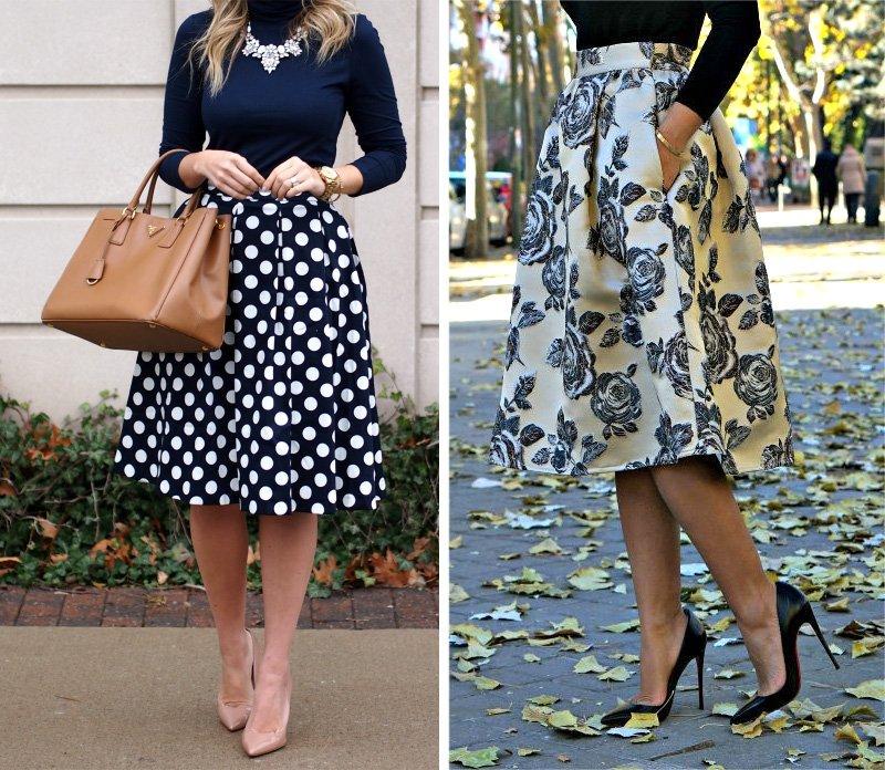весенние юбки для полных