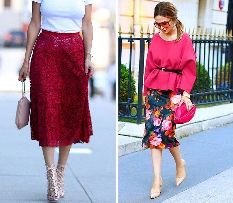 длинные весенние юбки
