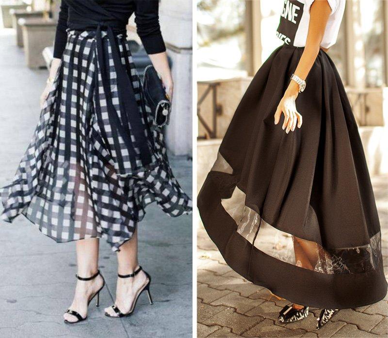 расклешенная юбка до колен