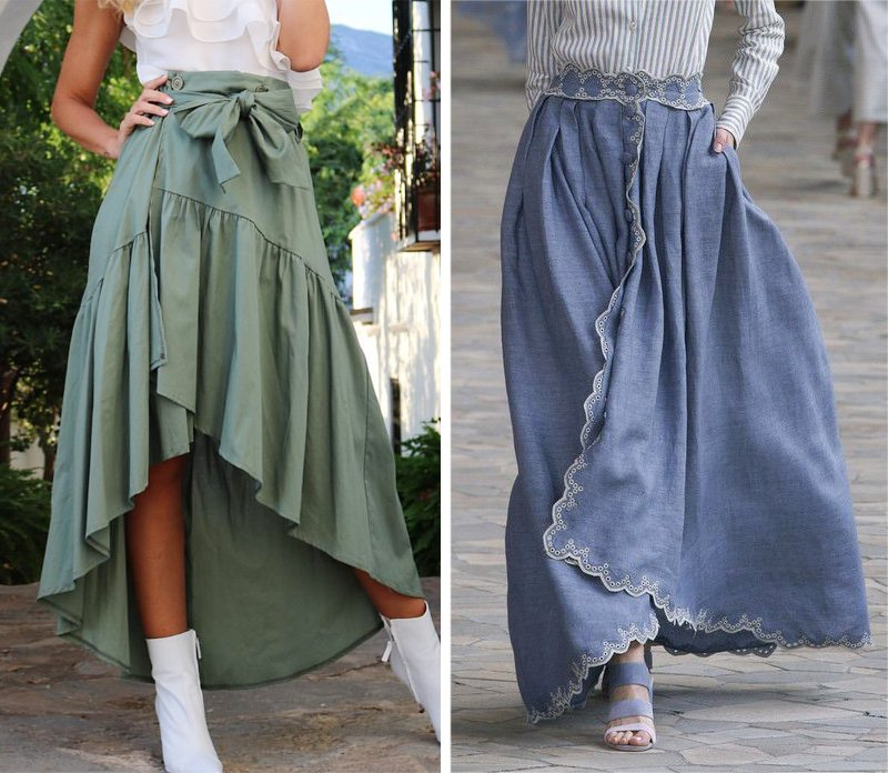 расклешенная двухшовная юбка