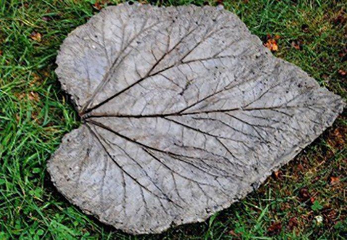 как сделать листья из цемента
