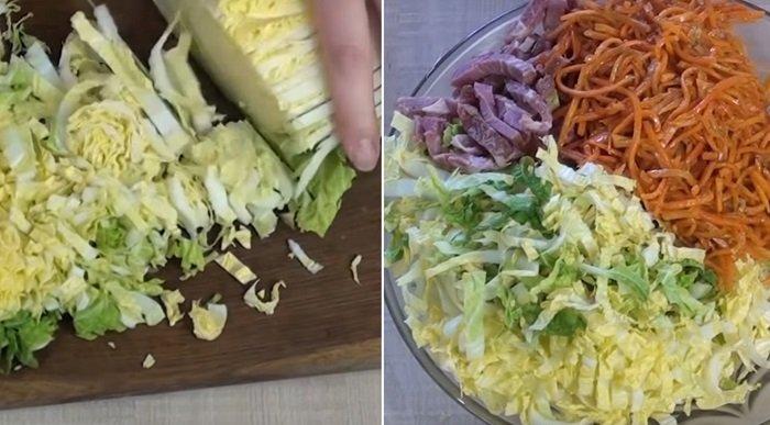 вкусный салат с морковью и свеклой