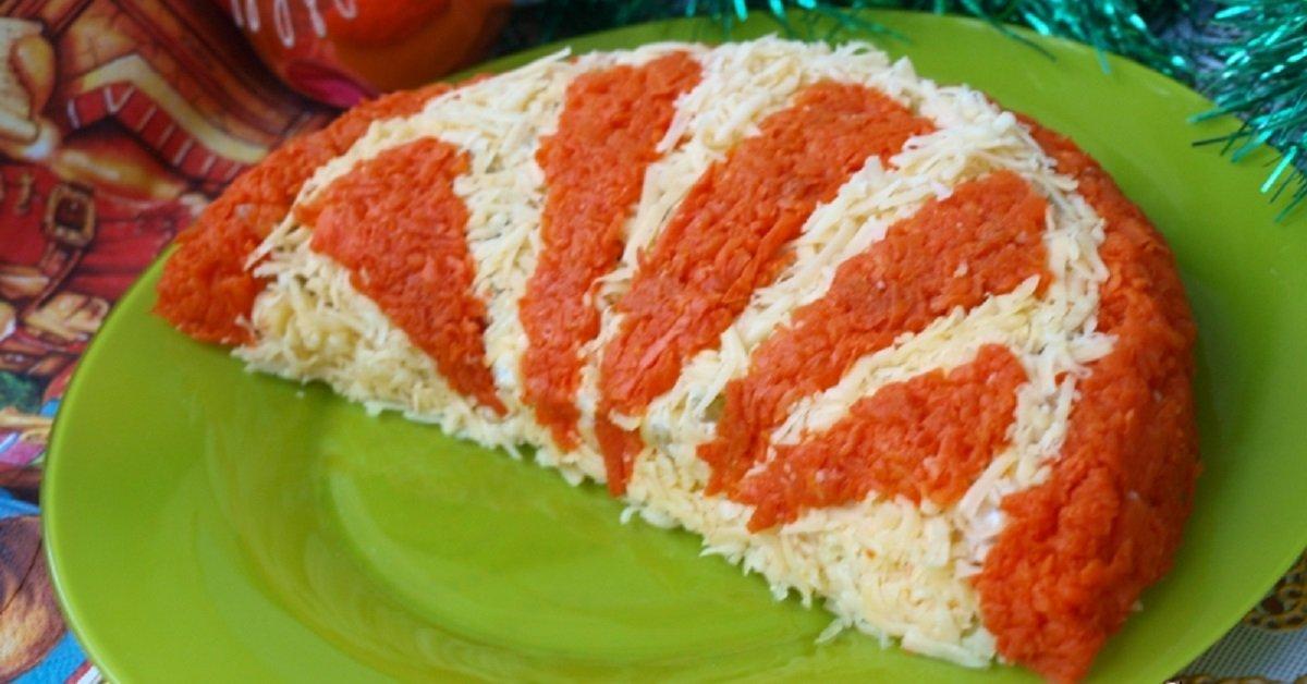 Апельсин долька салат рецепт пошагово