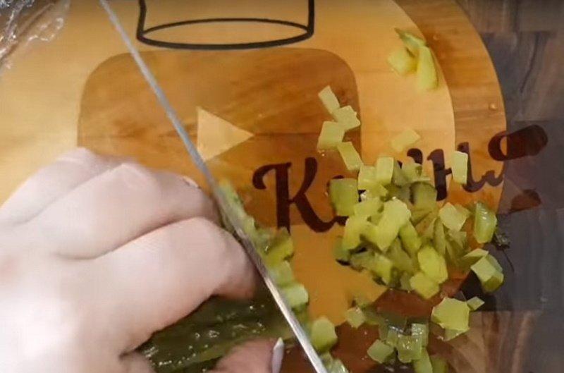 салат бусы на снегу с говядиной рецепт