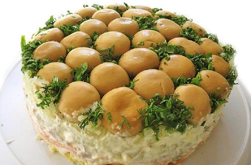 салат грибная полянка с марковчей рецепт с фото