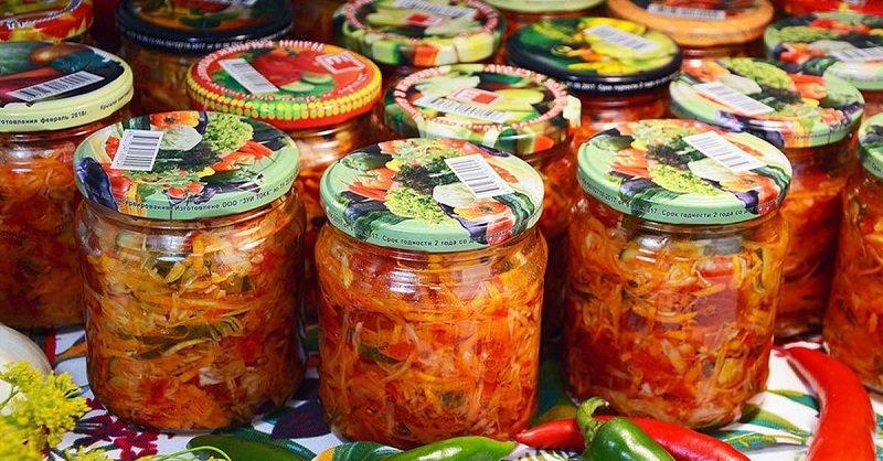 Салат на зиму «Четыре овоща», для которого нужно брать всего по килограмму