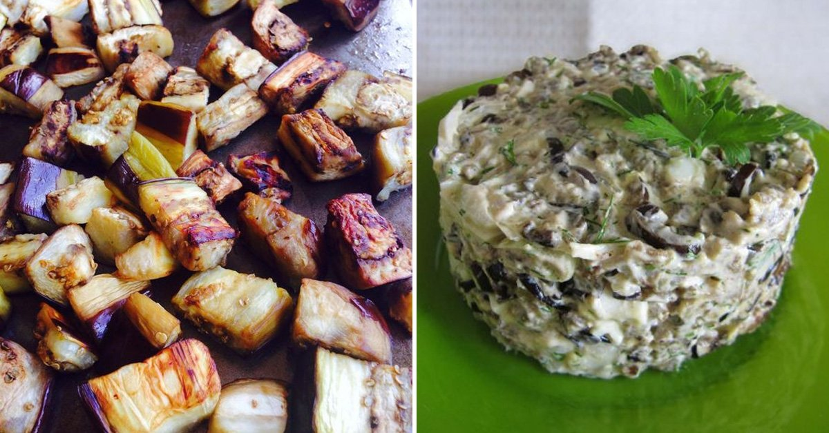 Рецепт салата из жареных баклажанов thumbnail