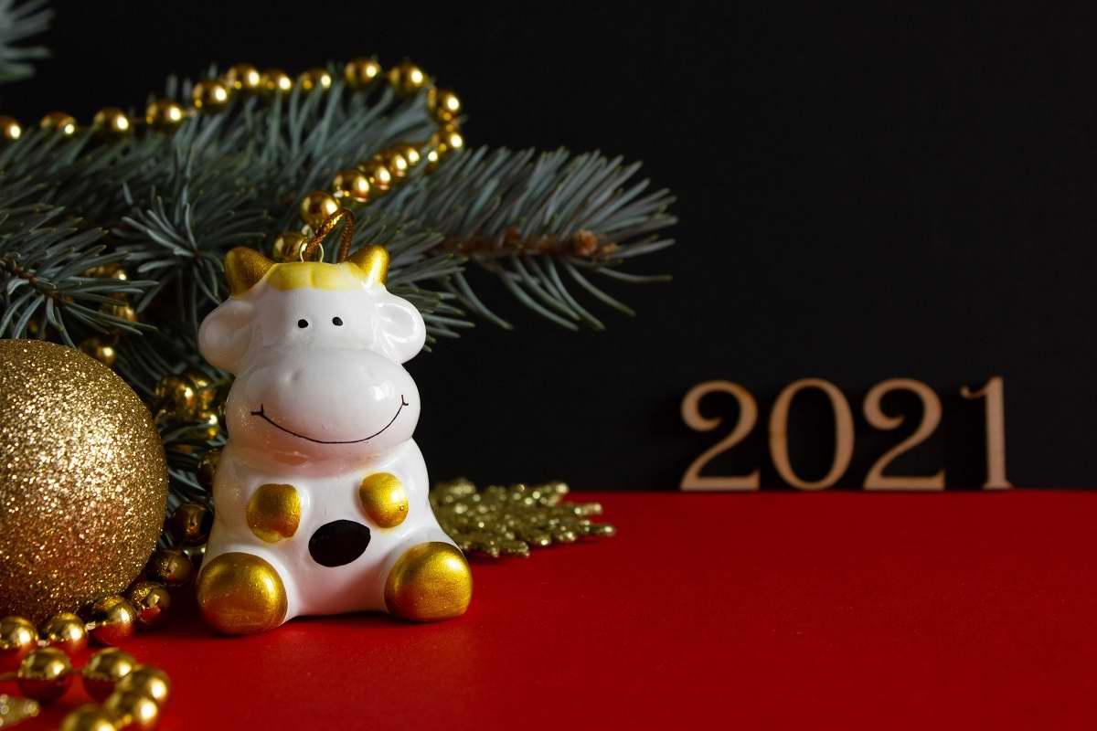 салат на новый год быка
