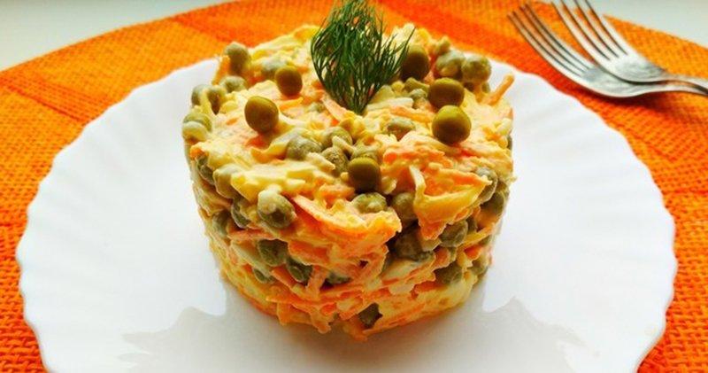простой салат с горошком консервированным