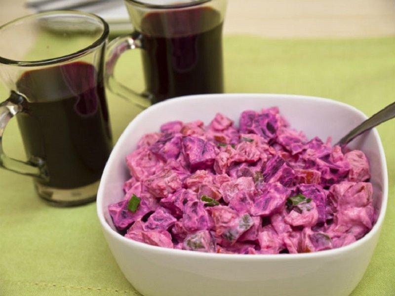 Рецепты простых картофельных салатов Кулинария,Закуски,Картофель,Лук,Рецепты,Салаты