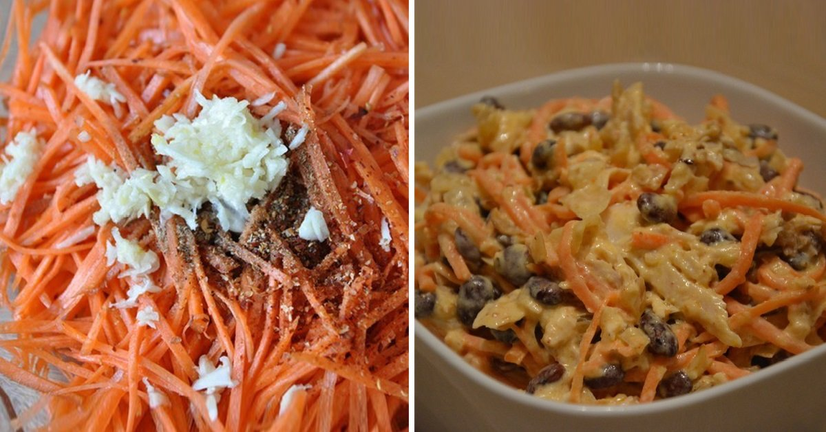 салат с грудкой грибами морковкой