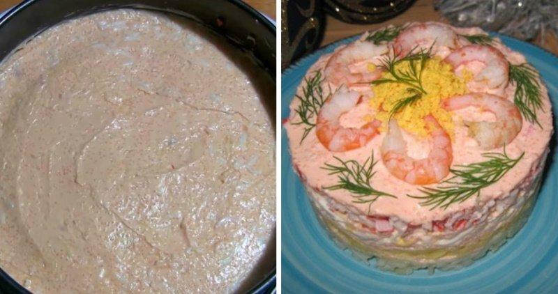 Как приготовить салат с морепродуктами Кулинария,Креветки,Салаты,Сыр,Яйца