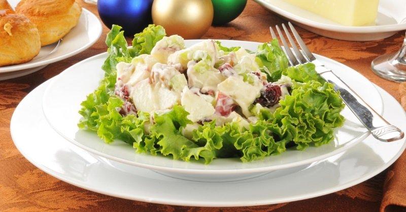 курица салат нежный