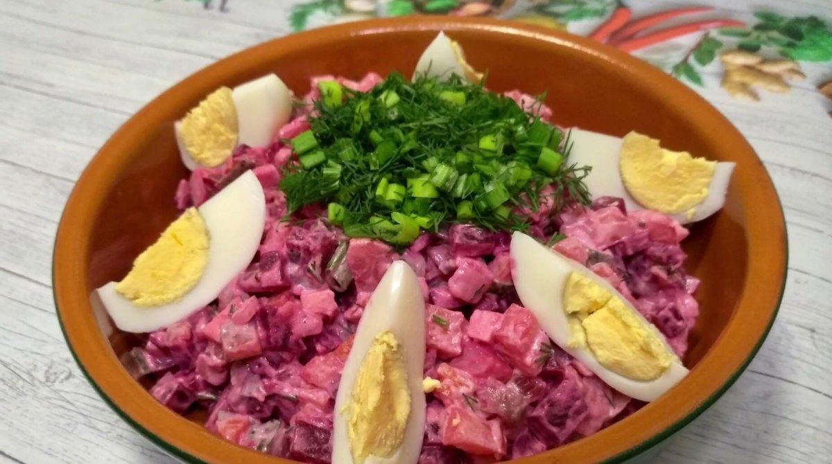 шведский салат с селедкой и свеклой